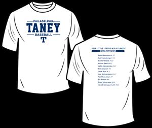 Picture of 2014 Little League Mid-Atlantic Champions T-Shirt (White)